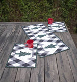Buffalo Lodge Tree Skirt, Table Runner & Placemats Pattern by Krista Moser of The Quilted Life