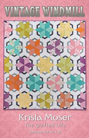 Vintage Windmill Quilt Pattern by Krista Moser of The Quilted Life