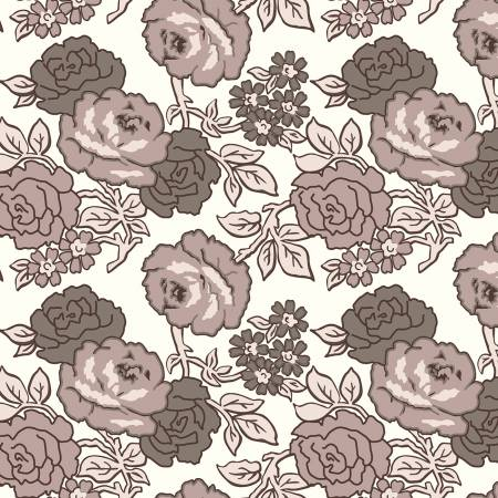 """Flea Market""-Roses 108in Wideback Neutral"