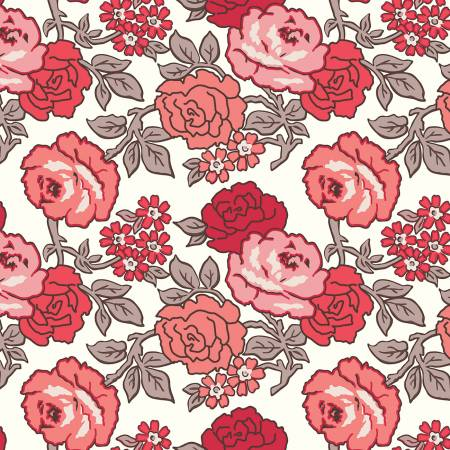 """Flea Market""-Roses 108in Wideback Red"
