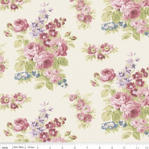 """Anne of Green Gables"" Anne Floral Cream by RBD Designers for Penny Rose Fabrics"