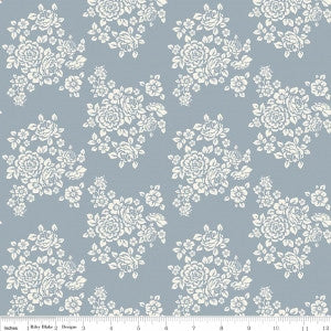 """Anne of Green Gables"" Anne Bouquet Blue by RBD Designers for Penny Rose Fabrics"