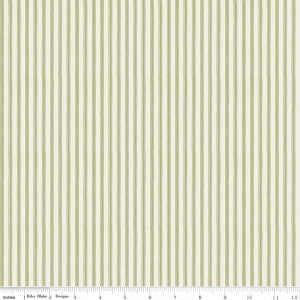 """Anne of Green Gables"" Anne Ticking Green by RBD Designers for Penny Rose Fabrics"