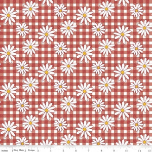 """Gingham Daisy Red"" Gingham Girls by Amy Smart for Riley Blake"