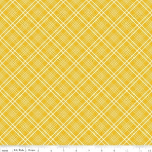 """Gingham Plaid Yellow"" Gingham Girls by Amy Smart for Riley Blake"