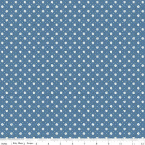 """Gingham Flower Blue"" Gingham Girls by Amy Smart for Riley Blake"