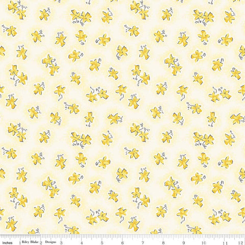 """Lily"" Floral Yellow by Sue Penn for Penny Rose Fabrics"