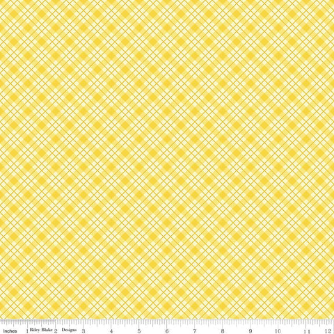 """Lily"" Plaid Yellow by Sue Penn for Penny Rose Fabrics"