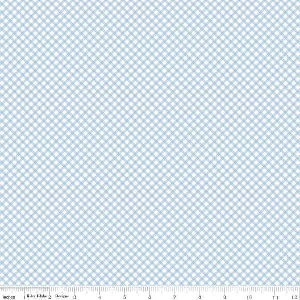 """Gingham Blue""-Bunnies & Cream by Lauren Nash for Penny Rose Fabrics"
