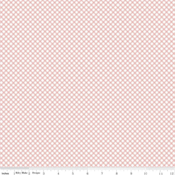 """Gingham Pink""-Bunnies & Cream by Lauren Nash for Penny Rose Fabrics"