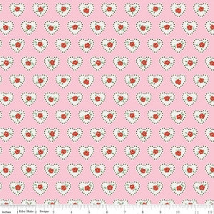 Little Dolly-Dolly Hearts Pink by Elea Lutz for Penny Rose Fabrics