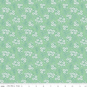 Little Dolly-Dolly Flowers Green by Elea Lutz for Penny Rose Fabrics