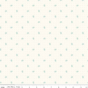 """Bee Backgrounds""-  Backgrounds Daisy Teal by Lori Holt of Bee in My Bonnet for Riley Blake"