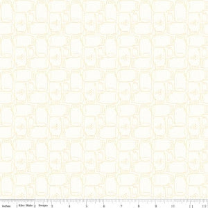 """Bee Backgrounds""-  Backgrounds Cannin Jar Yellow by Lori Holt of Bee in My Bonnet for Riley Blake"
