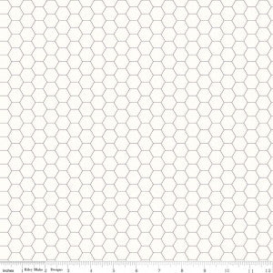 """Bee Backgrounds""-  Backgrounds Honeycomb Gray by Lori Holt of Bee in My Bonnet for Riley Blake"