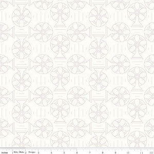 """Bee Backgrounds""-  Backgrounds Cool Gray by Lori Holt of Bee in My Bonnet for Riley Blake"