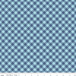 """Bee Basics""-  Basics Gingham Blue by Lori Holt of Bee in My Bonnet for Riley Blake"