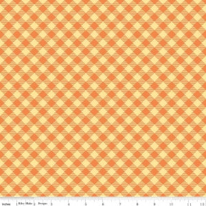 """Bee Basics""-  Basics Gingham Orange by Lori Holt of Bee in My Bonnet for Riley Blake"