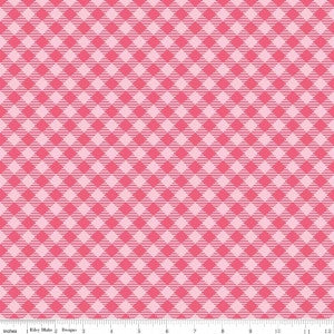 """Bee Basics""-  Basics Gingham Raspberry by Lori Holt of Bee in My Bonnet for Riley Blake"