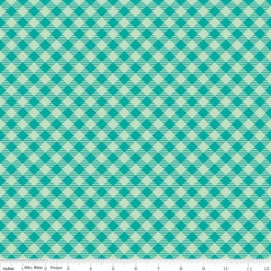 """Bee Basics""-  Basics Gingham Teal by Lori Holt of Bee in My Bonnet for Riley Blake"