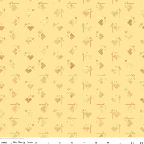 """Bee Basics""-  Basics Heart Yellow by Lori Holt of Bee in My Bonnet for Riley Blake"