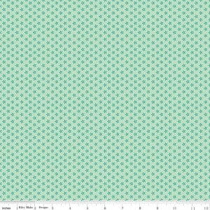 """Bee Basics""-  Basics Tiny Daisy Teal by Lori Holt of Bee in My Bonnet for Riley Blake"
