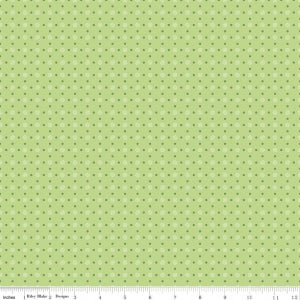 """Bee Basics""-  Basics Polka Dot Green by Lori Holt of Bee in My Bonnet for Riley Blake"