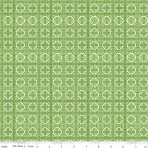 """Bee Basics""-  Basics Circle Green by Lori Holt of Bee in My Bonnet for Riley Blake"