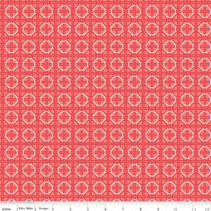 """Bee Basics""-  Basics Circle Red by Lori Holt of Bee in My Bonnet for Riley Blake"