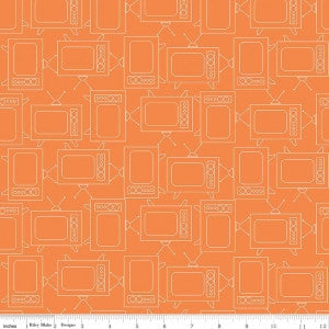 """Bee Basics""-  Basics TV Orange by Lori Holt of Bee in My Bonnet for Riley Blake"