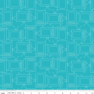 """Bee Basics""-  Basics TV Turquoise in My Bonnet for Riley Blake"