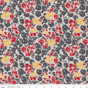 """Sorbet"" Black Sorbet Main by Leonie Bateman for Penny Rose Fabrics"