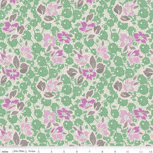 """Sorbet"" Green Sorbet Main by Leonie Bateman for Penny Rose Fabrics"
