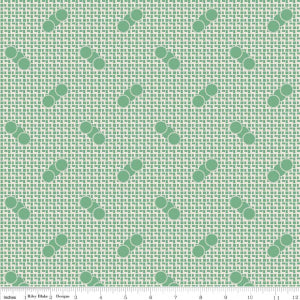 """Sorbet"" Green Sorbet Spots by Leonie Bateman for Penny Rose Fabrics"