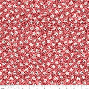 """Sorbet"" Red Sorbet Floral by Leonie Bateman for Penny Rose Fabrics"