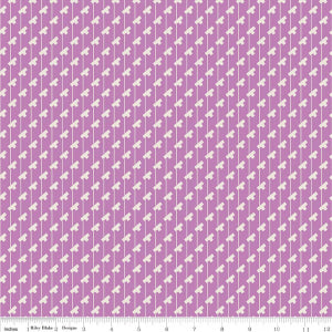 """Sorbet"" Purple Sorbet Tee Stripes by Leonie Bateman for Penny Rose Fabrics"