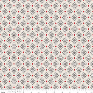 """Sorbet"" Cream Sorbet Crisscross by Leonie Bateman for Penny Rose Fabrics"