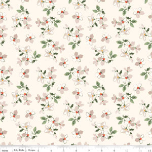 """Farmhouse Floral"" Cream Farmhouse Toss by Nancy Zieman for Penny Rose Fabrics"