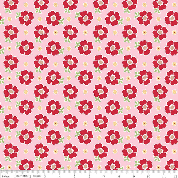 """Bake Sale 2""-  Pink Bake 2 Floral by Lori Holt of Bee in My Bonnet for Riley Blake"