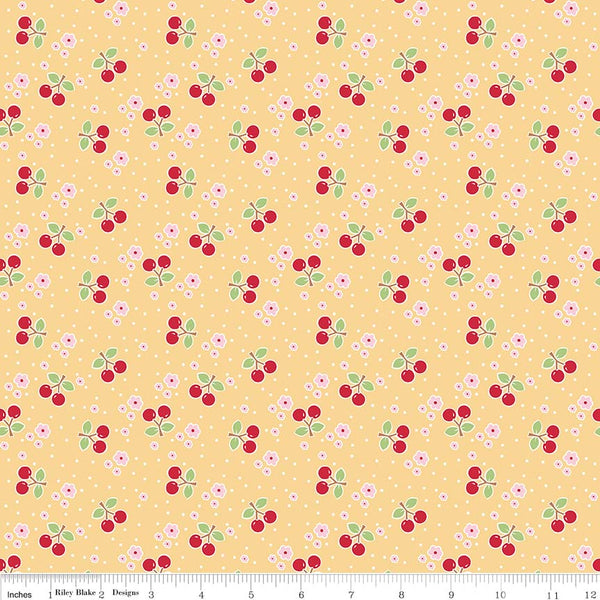 """Bake Sale 2""-  Yellow Bake 2 Cherry by Lori Holt of Bee in My Bonnet for Riley Blake"