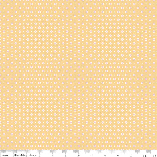 """Bake Sale 2""-  Yellow Bake 2 Dot by Lori Holt of Bee in My Bonnet for Riley Blake"