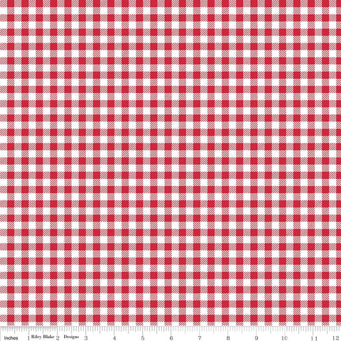 """Bake Sale 2""-  Red Bake 2 Gingham by Lori Holt of Bee in My Bonnet for Riley Blake"