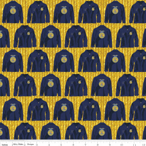 """FFA Forever Blue""-FFA Jacket Gold for Riley Blake"