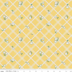 """Calico Crow"" Plaid Yellow by Lauren Nash for Penny Rose"