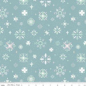 """Way Up North"" Snowflake Blue by Jill Howarth for Riley Blake"
