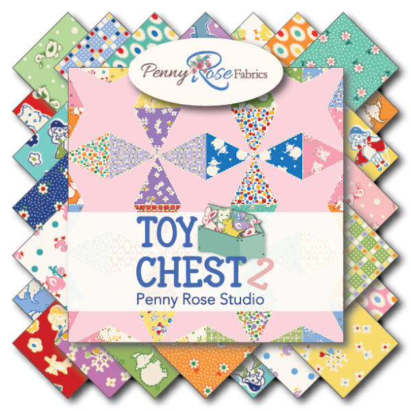 "Toy Chest 2- 5"" Stacker(5""squares)Bundle 42 pc by Penny Rose Fabrics"