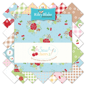 """Sew Cherry 2"" 5"" Stacker 42 Pcs. by Lori Holt for Riley Blake"