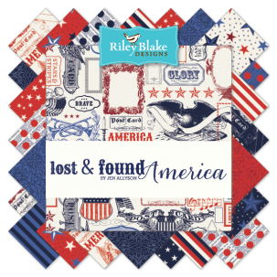 "Lost & Found America 5"" Stacker Bundle by Jen Allyson for Riley Blake"