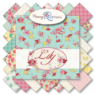 "Lily- 5"" Stacker(5""squares)Bundle 42 pc by Sue Penn for Penny Rose Fabrics"