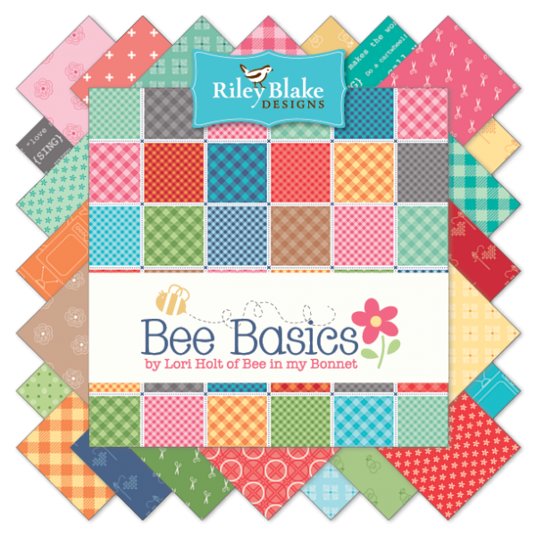 """Bee Basics"" 5"" Stacker 42 Pcs. by Lori Holt of Bee in My Bonnet for Riley Blake"